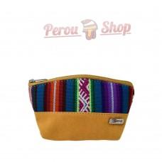 Porte monnaie fait main en tissu péruvien
