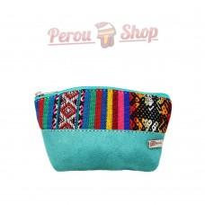 Porte monnaie original en tissu péruvien. Porte monnaie ethnique fait au Pérou.