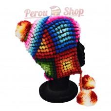 Bonnet Péruvien en laine d'alpaga modèle Colores Andinos