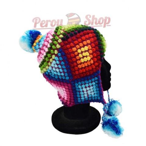 Bonnet Péruvien en laine d'alpaga modèle Iquitos