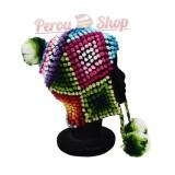Bonnet Péruvien en laine d'alpaga modèle Amazonas