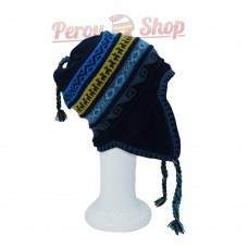 Bonnet péruvien polaire en laine d'alpaga modèle Apurimac