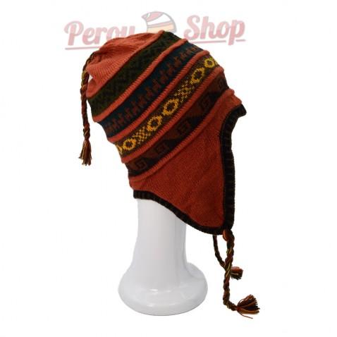 Bonnet péruvien doublé polaire modèle Tiahuanaco