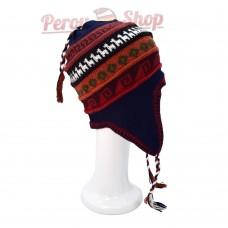Bonnet Péruvien doublé polaire en laine d'alpaga modèle Huascaran
