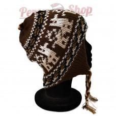 Bonnet péruvien marron