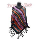 Poncho péruvien laine d'alpaga modèle Inti