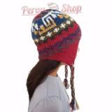 Bonnet péruvien enfant en laine d'alpaga