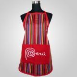 Tablier tissu Inca modèle Peru couleur fushia
