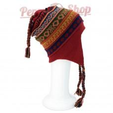 Bonnet Péruvien réversible en laine d'alpaga modèle Imperio Inca
