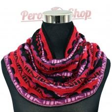 Tour de cou ou snood andin en laine d'alpaga modèle Flor de la Canela