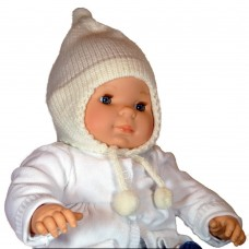 Bonnet péruvien pour bébé crème