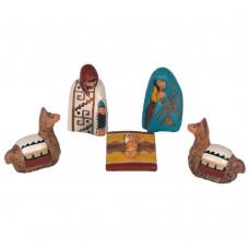Crèche de noël des Andes Péruviennes modèle Inca