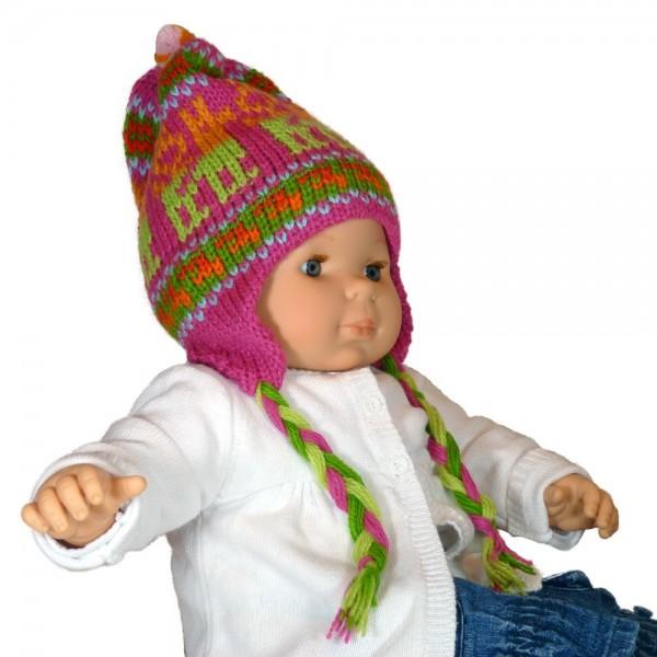 Super Bonnet péruvien enfant multicolore fait à la main par des artisans  OY86