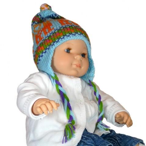 Bonnet péruvien pour enfant modèle llamita