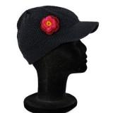 Bonnet casquette noir