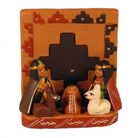Crèche Péruvienne modèle croix Inca