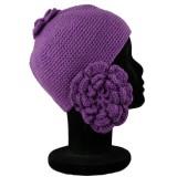 Bonnet avec cache-oreille en fleur