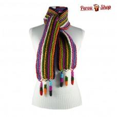 Echarpe en laine d'alpaga multicolore