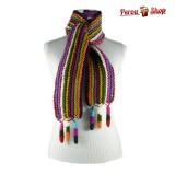 Echarpe en laine alpaga noir