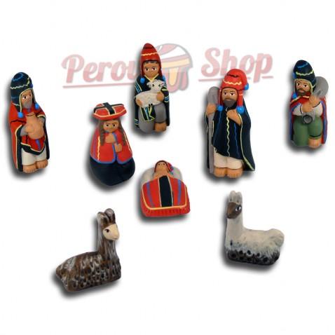 Crèche des Andes Péruviennes modèle Cuzco