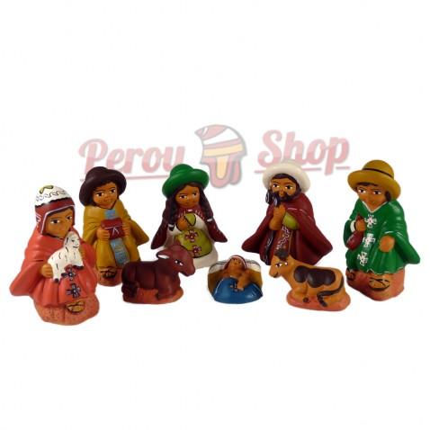 Crèche péruvienne modèle Croix Andines