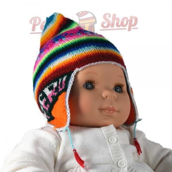 Super Bonnet péruvien pour bébé fait main OY86