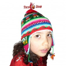 Bonnet péruvien enfant multicolore