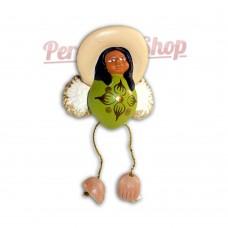 Pendentif déco sapin modèle anges péruviens de noël
