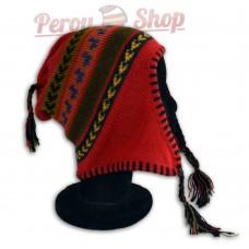 Bonnet Péruvien modèle Lamas bleus des Andes