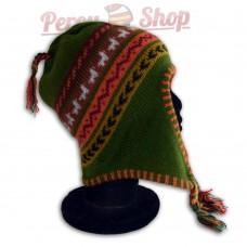 Bonnet Péruvien modèle Lamas gris des Andes