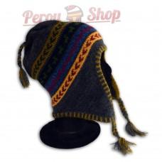 Bonnet Péruvien modèle Lamas verts des Andes