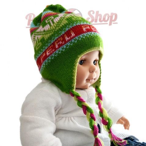 Bonnet péruvien pour bébé réversible modèle Peru