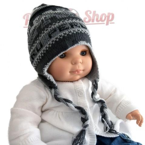 Bonnet péruvien pour bébé réversible llamas