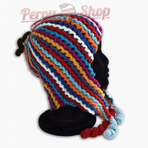 Bonnet Péruvien modèle colores des Andes