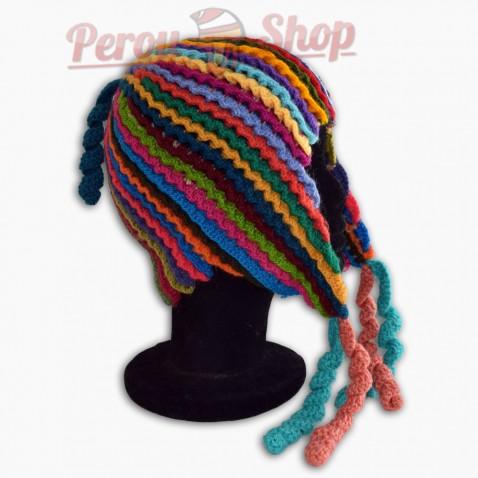 Bonnet Péruvien modèle couleurs des Andes