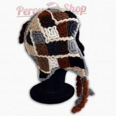 Bonnet Péruvien modèle losanges des Andes
