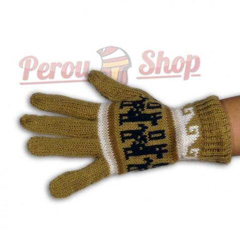 Gants en laine d'alpaga modèle Lima