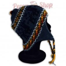 Bonnet Péruvien bleu acier