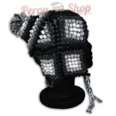 Bonnet Péruvien en laine d'alpaga modèle andin