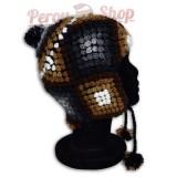 Bonnet Péruvien homme ou femme en laine d'alpaga modèle Pérou