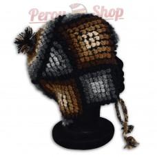 Bonnet Péruvien en laine d'alpaga modèle Andahuaylas