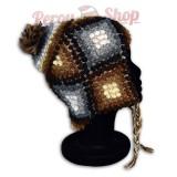 Bonnet Péruvien en laine d'alpaga modèle Arequipa