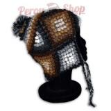 Bonnet Péruvien en laine d'alpaga modèle Puno