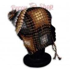 Bonnet Péruvien en laine d'alpaga modèle Huascaran