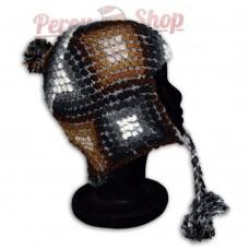 Bonnet Péruvien en laine d'alpaga modèle Huaraz