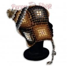Bonnet Péruvien en laine d'alpaga modèle Cajamarca