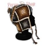 Bonnet Péruvien en laine d'alpaga modèle Pisac